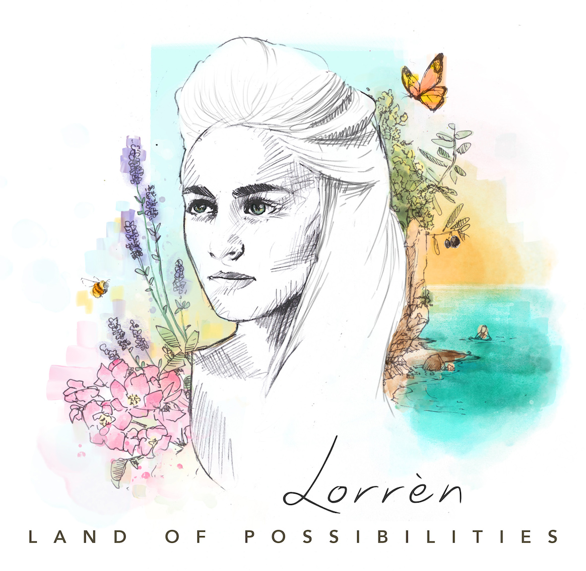 Albumcover Lorren Land of Possibilities door Egon de Regt KLEIN